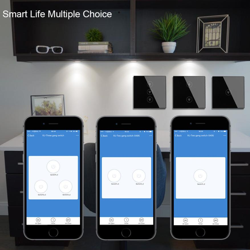 HIPERDEAL Smart Home Automation Modules Smart WiFi Wall Switch EU Standard Remote Switch for IOS Android dec7