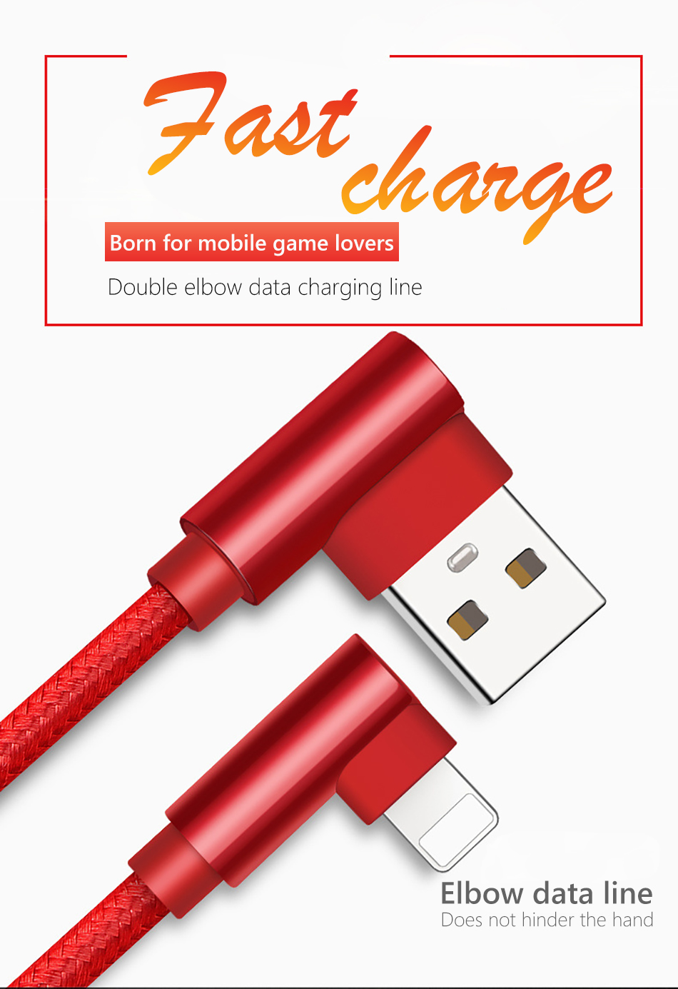!ACCEZZ USB Charging Data Cable Lighting For Apple iphone X 8 7 6 6S Plus XR XS MAX 5C 5 SE 90 Degree Phone Charger Cord Line (1)
