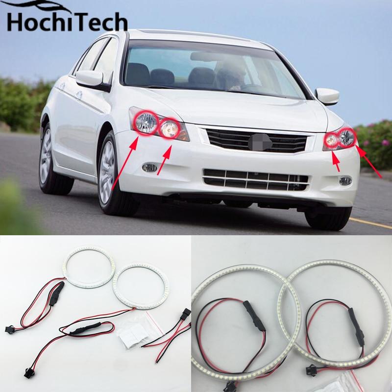 Ultra bright SMD white LED angel eyes 1600LM 12V halo ring kit for honda accord 2008<br>