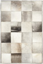 Bleeker Steel Natural Cow Hide Patchwork Sew Handmade Rug(China)