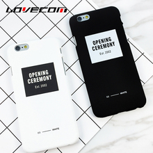 LOVECOM Creative Opening Ceremony Letters Pattern Hard Scrub Thin Anti Shock Mobile Phone Cases For iPhone 7 Plus 6 6S Plus