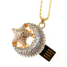 Lovers Gift Jewelry Usb Flash Drive Necklace Pendrive 32 GB 64GB Usb Flash Meomory Stick Card Drives External Hard Drive 16GB 8G