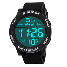 Fashion Waterproof Men's Boy Watch LCD Digital Stopwatch Date Silicone Rubber Strap Military Army Sport Wrist Watch relogio