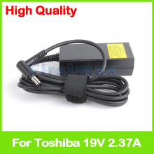19V 2.37A laptop AC power adapter charger for Toshiba Kirabook 13 i7S1 Toshiba AC100 AC100-01B Kira-101 102 107 109 10D AT01S(China)