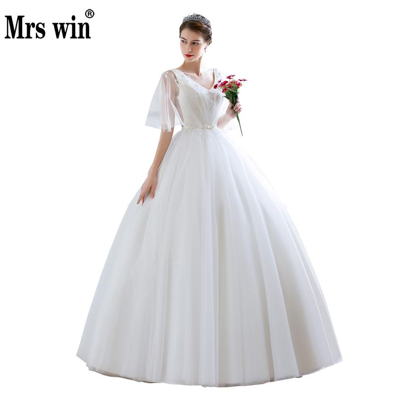 New Arrival Beading V Neckwedding Dress 2019 Sexy Ball Gown Vestido De Noiva Custom-made Plus Size Wedding Gowns Free Shipping