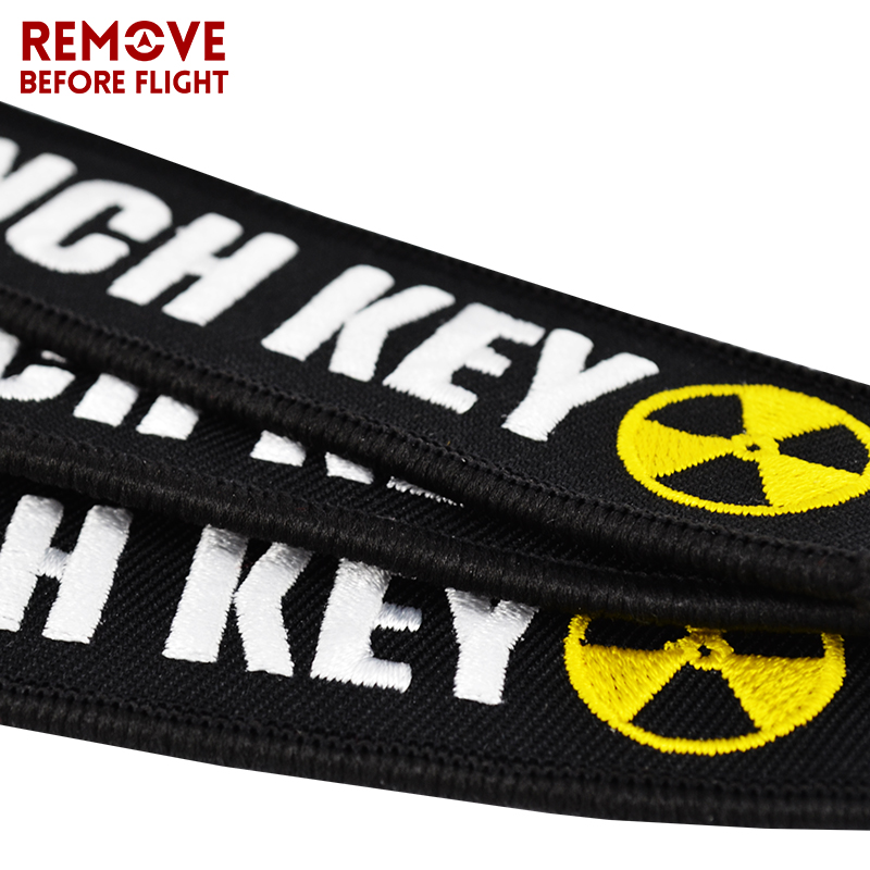 New Fashion Nuclear Launch Key Chain Bijoux Keychain for Motorcycles and Cars Gifts Tag Embroidery Key Fobs OEM Keychain Bijoux (10)