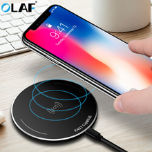 Buy OLAF Qi Wireless Charger iPhone X 8 Samsung Note 8 Galaxy S8 Plus S7 S6 Edge Ultra Thin Phone Charger Fast Wireless Charging for $18.74 in AliExpress store
