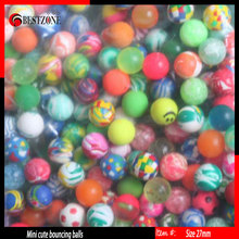 Wholesale Factory creative 32mm rubber Bouncy  balls or bounce balls  colored toy for kids and decoration Free Shipping