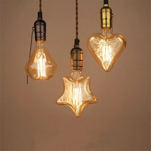 Buy 4pcs 40W Retro Village Edison Light E27 Filament Twinkle Star Shape Edison Vintage Bulb AC110V/220V Antique Edison Bulb for $25.46 in AliExpress store