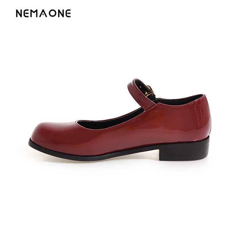 NEMAONE 2017 New arrival fashion women shoes low heel casual shoes woman Students school shoes mary jane<br>