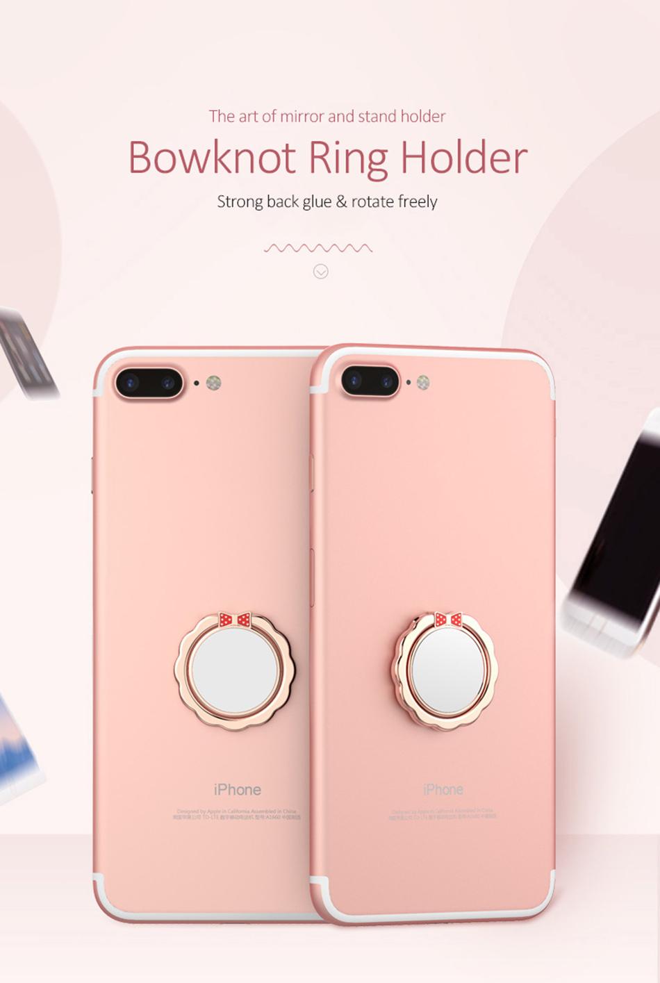 Original H&lOO mirror Ring Bracket Finger Grip Phone Desktop Holder Safe and Firm Built-in Iron Sheet for Most Mobile Phones (1)