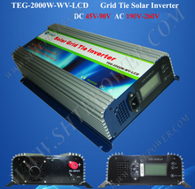 2000W pure sine wave inverter,220V grid tie inverter,on grid inverter for solar panel(China)