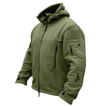 Military Man Fleece Tactical Softshell Jacket Men Polartec Thermal Polar Hooded Coat Outerwear Army Clothes And Coats(China)