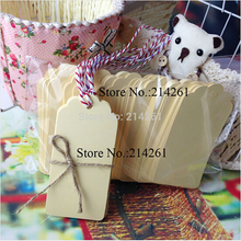 Wholesale 200pcs Big Size :45x95mm Wedding Tag Beige Colour For Packing Gift Box Baker Tag Garment Tag 1Lot/1Colour