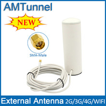 3G antenna SMA 4G antenna 3G booster antenna indoor outdoor antenna with 5m cable for signal booster wifi router inside outside(China)