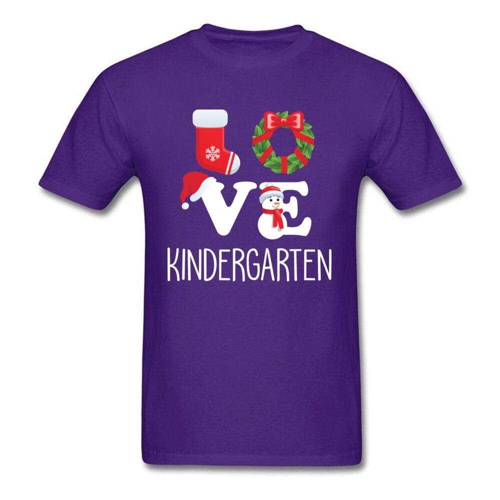 Love Kindergarten Shirt Teacher Christmas Gift_purple