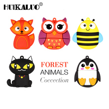 Big promotion cute penguin owl fox pen drive cartoon usb flash drive pendrive 4GB/8GB/16GB/32GB U disk animal memory stick(China)