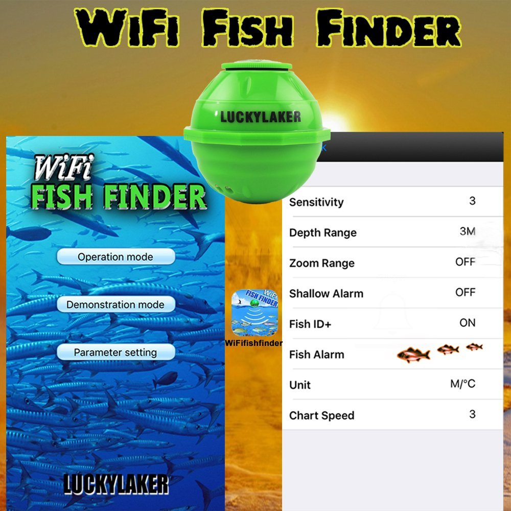 WiFi Wireless Finder For Underwater Fish Hunting Deeper Sonar Fishfinder With APP Echo Sounder Fishing Alarm for Depth Fish Sensor (5)