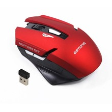 Best ESTONE 2.4G Optical 10M Distance Wireless Mouse USB Receiver 6 Button Professional Game Gaming Mouse for Laptop PC Computer