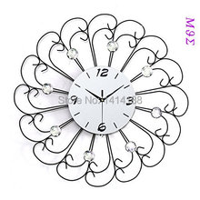 wrought iron wall clock wanduhr home decor  vintage  modern design watch vintage saat relojes pared decoracion  diamond Round