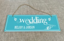 Personalized Outdoor Wedding Reception & Ceremony Decoration Directional Signs wedding sign board  Ribbon feel SB011H