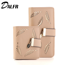 DALFR PU Leather Wallet Women Luxury Female Clutch Fashion Leather Purse Designer Bags High Quality Ladies Bags(China)