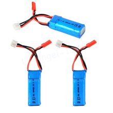 3pcs/lot 2S 7.4V 350mAh 35C Lipo Battery For Mini RC Helicopter Quadcopter Airplane Model DLG1000 F300BL DTS130(China)