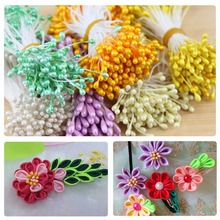 150pcs/bag 55mm Artificial Flower Double Heads Stamen Pearlized Craft Cards Cakes Decor Floral for home wedding party decor