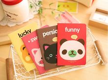 Kawaii Cartoon Animal Head Cover A6 Mini Notebook Diary Pocket Notepad Promotional Gift Stationery