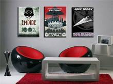 Print Canvas No Frame Black And White Poster Star Wars Empire Modern Canvas Wall Art Print Pictures For Bedroom Decoration Large