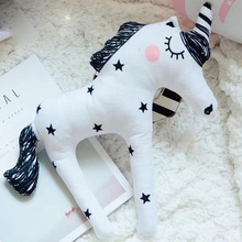 28cm High Quality Lovely Little Horse Plush Doll Unicorn Horse Toys Pillow For Children Kids Birthday Christmas Gifts(China)