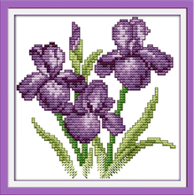 Joy sunday floral style The flower of happiness gift free cross stitch ornament patterns hand carft for printable fabric