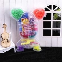 Cute Mouse Type Boxed Rubber Loom Bands Kit for Kids DIY Weave Bracelet Mix Color Rubber Bands 1 Hook+1 Tool+12 S Clips Band Set