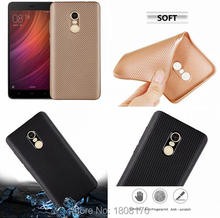 Carbon Fiber Soft TPU Case For Xiaomi Redmi Hongmi NOTE 4X / 4 Pro / Huawei GR5 2017 Fashion Silicone Cell Phone Skin Cover 1pcs