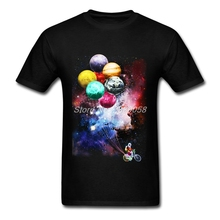 t-shirts Men 3D Print Short Sleeve Spaceman Side Job T-shirt Blank Unique Casual Mens T shirt Camisetas(China)