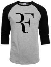 100% Cotton Roger Federer shirt Brand Raglan sleeve Clothing tops tees man 2017 new style Summer Autumn Fashion mma T shirt Men