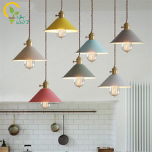 Nordic Colorful Led Pendant Lights Dining/living room Hanglamp Pendant lamp Restaurant/Bar/Coffee Hanging lights Design lamps(China)