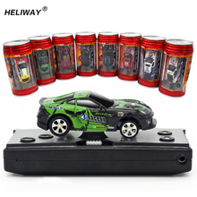 WLtoys RC Car Boys`Beast Gift Hot Sale Coke Can Green Ready To Go 4 Channels 20km/h Radio Control Mini Racing Car For Kids(China)