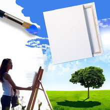 Painting Canvas Blank Cotton Canvas Panels Square Mounted Art Artist Boards Painting Tool Craft(China)