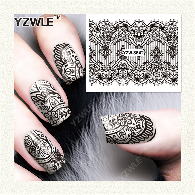 YZWLE 1 Sheet DIY Nails Art Decals Water Transfer Printing Stickers For Manicure Salon YZW-8642<br><br>Aliexpress