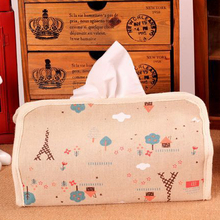Multi-Functional Cotton Fabric Tissue Box Cute Cartoon Home Car Tissue Case Box Container Towel Napkin Papers Holder Case Pouch(China)