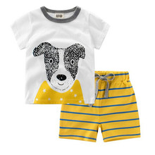 Boys Summer Clothes Children Clothing set Character Dog Bear Boy Clothing Casual Boys Set Kids tracksuit T-shirt Shorts 2-10