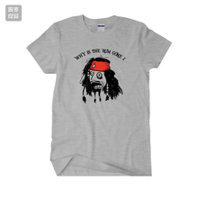 2017 new Pirates of the Caribbean Jack Sparrow short sleeve t shirt male famale 100% cotton jersey(China)