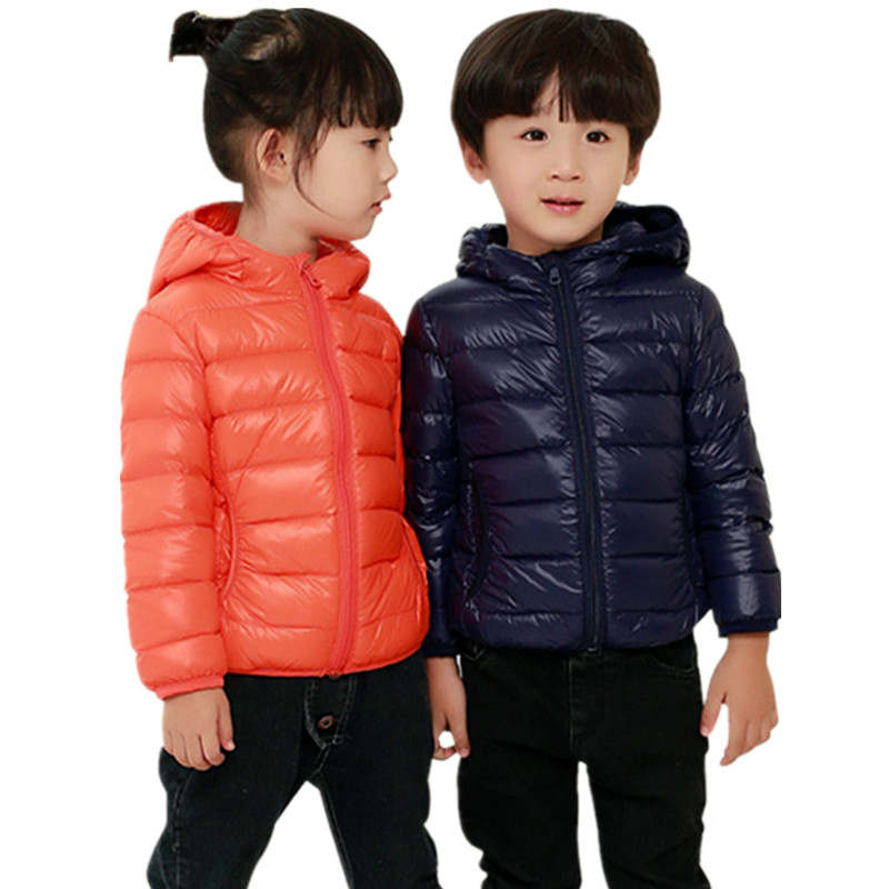 2017 the new childrens wear down jacket in winter pure color hooded girls down jacket fashion warm comfortable boy feather coatОдежда и ак�е��уары<br><br><br>Aliexpress