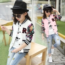 2016 the spring and autumn period paragraph coat thin children put girls long-sleeved baseball uniform and children's wear(China)