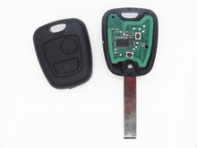 Remote Control Key 2 Buttons 433Mhz for PEUGEOT 407 46 chip Car Keyless Entry Fob HU83 Blade with grooved 1pc auto parts()