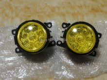 2 Pieces/Pair yellow colour LED front fog lights lamps for Ford Focus 2009-2014 Focus 2 3 DRL