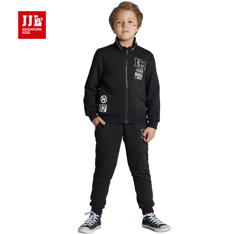 boys outfits boys suits hooded coat + trackpants kids sets 2017 kids suits children clothing child suits size 6-15t<br><br>Aliexpress