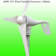 2017 Hot Selling 3 Blades 12V 400W Low Wind Speed Starting Home Use Residential Permanent Magnet Wind Turbine Generator(China)