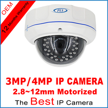 PLV NEW 4MP 3MP 1080P 2.0MP IP Camera ONVIF 2.8-12mm zoom lens Plug and Play Dome IP Cam with IP66 Mental Waterproof Casing(China)